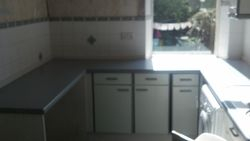 pic 4 white /grey laminate to be upgraded to a tucson cream shaker kitchen