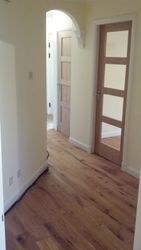 solid  rustic oak flooring  brushed & oiled hall pic 1