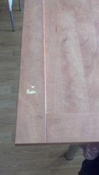 Dented kitchen unit door to be repaired pic 1