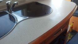 caravan sink worktop fully repaired