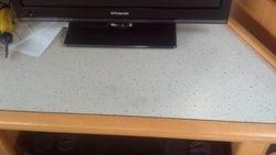 Hobby Caravan TV unit dent fully repaired pic 5 of 5