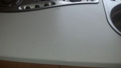 Dented motorhome worktop to be repaired  pic 1 of 7