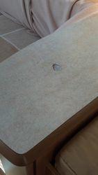 Caravan table worktop dent to be repaired pic 1 of 5