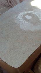 Caravan table worktop dent repair in progress pic 3 of 5