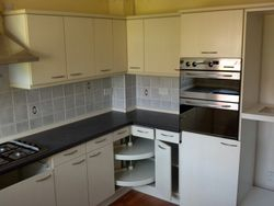 Removal of this existing kitchen to be upgraded to Stevenswood broad oak Natural pic 3 of 5