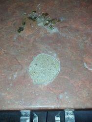 Repair in progress to laminate worktop burn pic 2 of 6