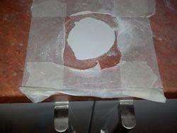 Repairing a pot burn in a laminate worktop pic 3 of 6