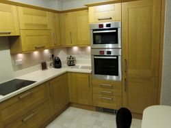 Upgrade completed to Stevenswood Broadoak Natural with corian worktops pic 5 of 5