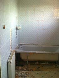 Bathroom upgrade start of rip out pic 1 of 7
