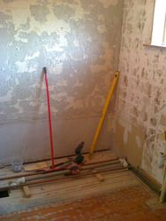 Bathroom upgrade  suite ripped out and tiles removed pic 3 of 7