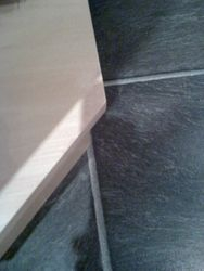 Chipped kitchen corner base unit shelf repair fully completed pic 4 of 4