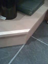 Chipped kitchen corner base unit shelf repaired pic 3 of 4