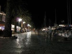 Port of Hvar by night