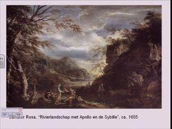"""Salvator Rosa """" River Landscape"""""""
