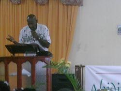 Fred preaching at Caron Hall, Change Hill, Maranatha Ministries