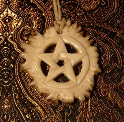 carved antler pentacle