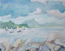 Boats on the Hudson, Croton-on-Hudson, N.Y.