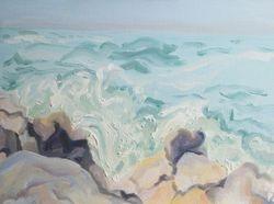 Crashing Waves:  Monhegan Island, Maine