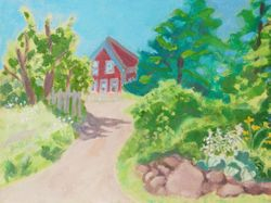 The Path to the Red House,  Monhegan Island, Maine