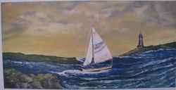 Rough Sea -Gallery Wrapped- 24X48 $195.00