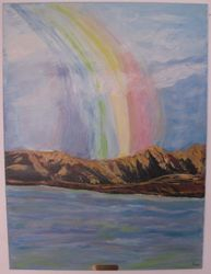 Rainbow and Mountain - 30X40 - $295.00