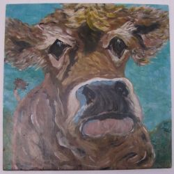 Mama Cow - Reclaimed Wood - 19X20 - $125.00