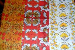 'cheerful yellow lotus' fabric is on the far right