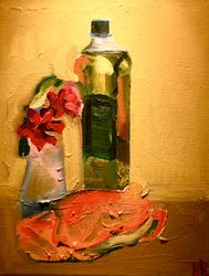 """olive oil, rhododendron and crab"""