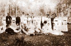 Wedding party at Albion Farm - 1862