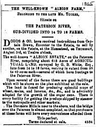 Albion Farm sale - 1865