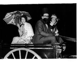 Guests arriving in period costume for centenary ball - 1976