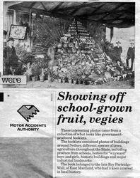 Iona Public School garden produce display