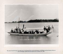"""Paterson River Steamship """"Ruby"""" 1898"""