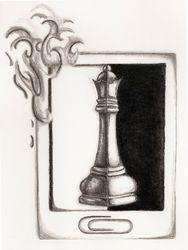 Bipolar Chess Piece