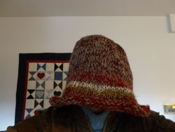 Felted Hat:  Before