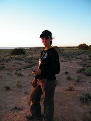 Kelly Cambell on a camel safari at Beltana Station, South Australia