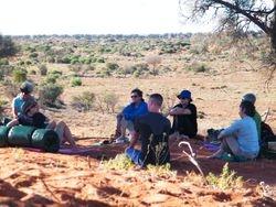 Camel Safari with a group.