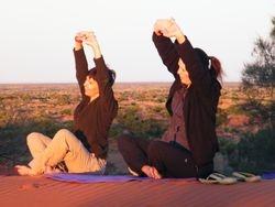 Yoga with camel safaris