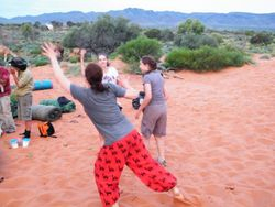 Camping in the Sand Dunes, Beltana Station Camel Safaris and Camel Tours, South Australia