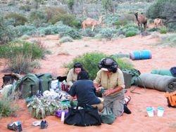 Preparing dinner at Beltana Station Camel Safaris