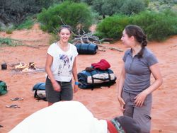 Organising camp with the camel safaris on Beltana Station, South Australia
