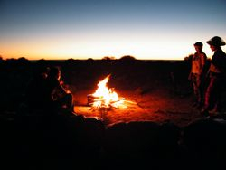 Camel Safari Campfire, Beltana Station, Flinders Ranges, South Australia