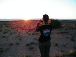 Sunset over Lake Torrens, Beltana Station Camel Safaris, Flinders Ranges, South Australia