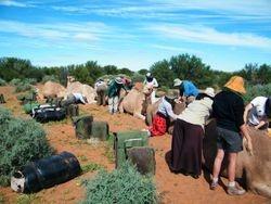 Loading the camels ready for safari, Beltana Station, Flinders Ranges, South Australia