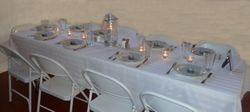Pre-table set up and candle lighting