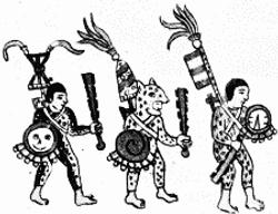 The Aztec warriors