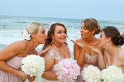 Updo's are the best hairstyles for weddings on the Beach!