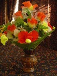 full triangle flower arrangement