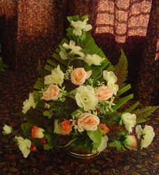 triangle flower arrangement