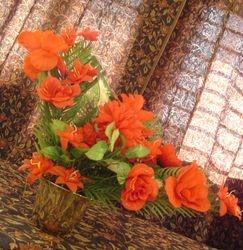 right triangle flower arrangement